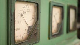 Viejo dispositivo análogo de medición de Ampermeter almacen de video