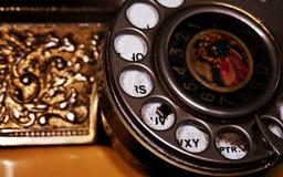 Viejo dispositivo de comunicación clásico del teléfono del vintage Foto de archivo