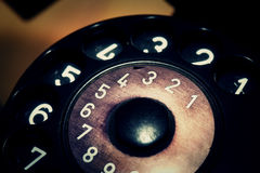 Viejo dispositivo de comunicación clásico del teléfono del vintage Fotos de archivo libres de regalías