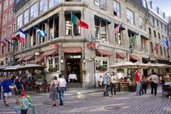 Viejo distrito de una ciudad de Montreal. Imagenes de archivo