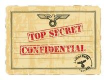 Viejo documento secreto. stock de ilustración