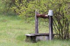 Viejo drenaje-bien abandobed Foto de archivo libre de regalías