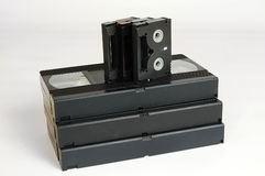 Viejo dv analogico del vhs de las cintas de cinta de video Fotos de archivo libres de regalías