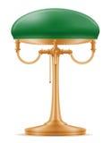 Viejo ejemplo retro del vector de la acción del icono del vintage de la lámpara de mesa Fotografía de archivo libre de regalías