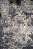 Viejo epitafio Fotos de archivo libres de regalías