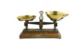 Viejo equilibrio, escala Imagen de archivo libre de regalías