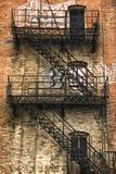 Viejo escape de fuego Foto de archivo libre de regalías