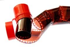 Viejo espiral de la raya de la película de 35 milímetros Imagen de archivo