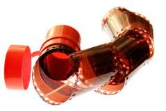 Viejo espiral de la raya de la película de 35 milímetros Fotos de archivo libres de regalías