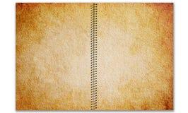 Viejo espiral - pista de nota encuadernada Imagen de archivo