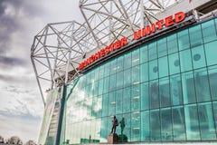 Viejo estadio de fútbol de Trafford Imagen de archivo libre de regalías