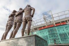 Viejo estadio de fútbol de Trafford fotografía de archivo