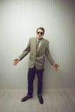 Viejo estilo del hombre de negocios Fotografía de archivo libre de regalías