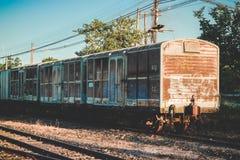 Viejo estilo del vintage de la estación de tren Fotos de archivo