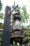 Viejo estilo del vintage de la lámpara de la linterna Foto de archivo