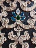 Viejo estilo tailandés del modelo del estuco Imagen de archivo
