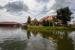 Viejo estilo tailandés del pabellón Foto de archivo