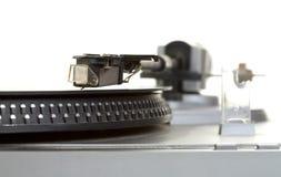 Viejo expediente de fonógrafo del jugador y del vinilo Fotos de archivo libres de regalías