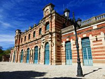 Viejo ferrocarril en Linares Imágenes de archivo libres de regalías