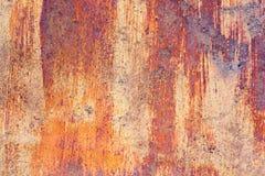 viejo fondo aherrumbrado Textura del metal de Grunge Foto de archivo libre de regalías