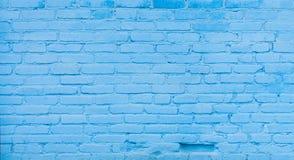Viejo fondo azul de la pared de ladrillo foto de archivo libre de regalías