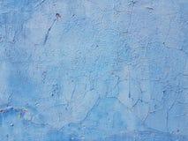 Viejo fondo azul del extracto de la pared foto de archivo