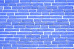 Viejo fondo azul manchado resistido de la pared de ladrillo imágenes de archivo libres de regalías