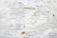 Viejo fondo blanco de la pared del yeso Fotografía de archivo