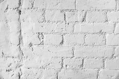 Viejo fondo blanco del fondo de la textura de la pared de ladrillo foto de archivo