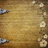 Viejo fondo con las flores Imagen de archivo