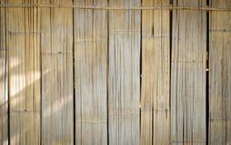 Viejo fondo de bambú Fotografía de archivo libre de regalías