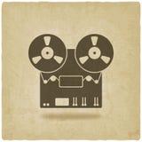 Viejo fondo de la grabadora Foto de archivo libre de regalías