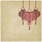 Viejo fondo de la linterna china Fotografía de archivo