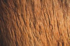Viejo fondo de la madera dura de Brown Fotografía de archivo