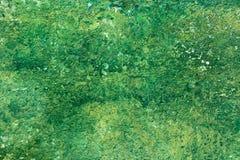 Viejo fondo de la pared de la pintura del verde de la peladura Foto de archivo libre de regalías