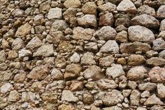 Viejo fondo de la pared de piedra, fortaleza de Cembolo Foto de archivo