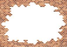 Viejo fondo de la pared de ladrillo Textura de los ladrillos rojos Vector de la frontera del cap?tulo copie la plantilla del espa ilustración del vector