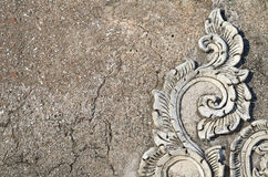 Vieja superficie de la pared del yeso Foto de archivo libre de regalías