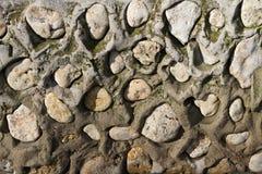 Viejo fondo de la textura de la pared de piedra fotos de archivo