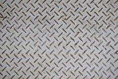 Viejo fondo de la textura de la placa de acero Foto de archivo libre de regalías