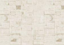 Viejo fondo de la textura del periódico Imagenes de archivo