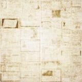 Viejo fondo de la textura del periódico Fotos de archivo