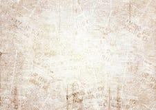 Viejo fondo de la textura del periódico del grunge Imagen de archivo