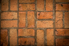 Viejo fondo de la textura del piso del ladrillo rojo Imágenes de archivo libres de regalías