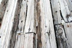 Viejo fondo de las tarjetas de madera Foto de archivo libre de regalías