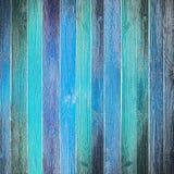 Viejo fondo de madera azul fotografía de archivo