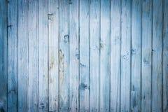 Viejo fondo de madera azul claro de los tablones Foto de archivo libre de regalías