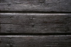 Viejo fondo de madera carbonizado Imagen de archivo