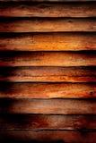 Viejo fondo de madera de la pared de la cabina de registro Foto de archivo libre de regalías