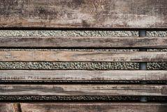 Viejo fondo de madera Fondo de madera de la textura de la pared del tablón de Brown Imágenes de archivo libres de regalías